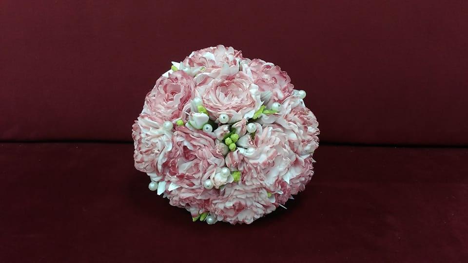 Свадебный букет-дублер пудрово-розовый