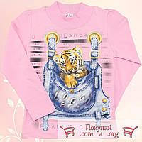 Розовая кофточка с лёгким начёсом для девочек от 3 до 7 лет (5525-2)
