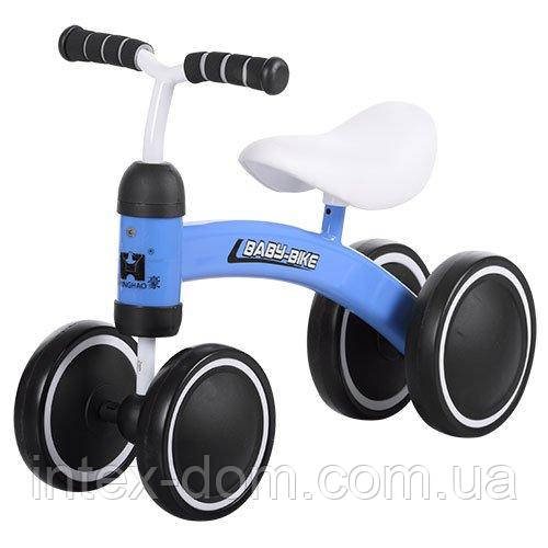 Детский беговел с 4-мя колесами (859-4) Синий