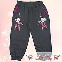 Спортивные штаны на манжете с начёсом для девочек Размеры: 104-110-116 см (5535-1)