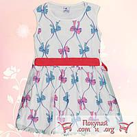 Белое летнее платье для девочки Размеры 5-6-7-8 лет (5537-4)