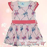 Платье с коротким рукавом для девочек Размеры: 2-3-4-5 лет (5538-3)