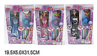 Кукла типа БарбиМодельер 6608AB1496737-41-42 72шт2 3 вида, с аксесс,фломастер,в кор.20532см