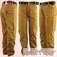Коричневые брюки с поясом для мальчика Размеры: 1-2-3-4 года (5565)