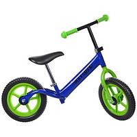 Детский беговел Profi Kids Синий 12'' (M 3436-5) с пенополиуретановыми колесами