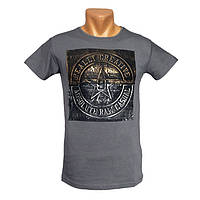 Прикольная мужская футболка Really Creative - №2413, Цвет серый, Размер S