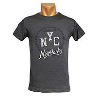 Прикольная футболка NYC - №2414, Цвет серый, Размер S