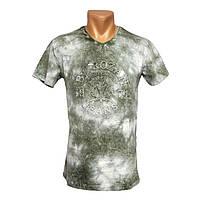 Удлиненная мужская футболка By Rozan Jeans - №2416, Цвет зеленый, Размер M
