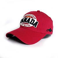 Мужская бейсболка Canada- №2427, Цвет красный