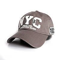 Мужская бейсболка NYC- №2436, Цвет серый