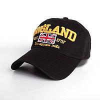 Мужская бейсболка England - №2451, Цвет черный