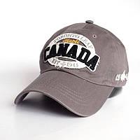 Мужская бейсболка Canada - №2449, Цвет серый
