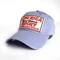 Мужская бейсболка America - №2455, Цвет голубой