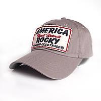 Мужская бейсболка America - №2456, Цвет серый