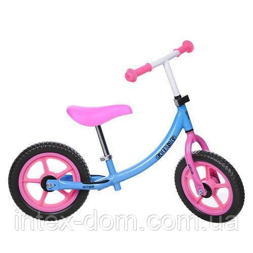 Детский беговел Profi Kids Голубой 12'' (M 3437-1) с колесами Eva Foam