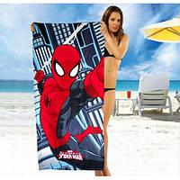 Детское пляжное полотенце Spider-Man - №2465, Цвет разноцветный