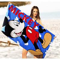 Детское пляжное полотенце Mickey Mouse - №2466, Цвет разноцветный