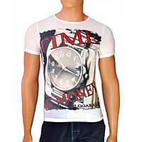 Мужская футболка Time is Money - №2483, Цвет белый, Размер M