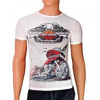 Качественные мужские футболки Harley-Davidson - №2484, Цвет белый, Размер M