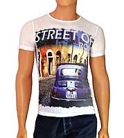 Модная футболка Street of Rome - №2485, Цвет белый, Размер M