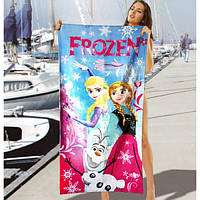 Детское пляжное полотенце Frozen - №2475, Цвет разноцветный