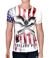 Модные белые футболки - №2493, Цвет белый, Размер M