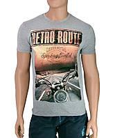 Футболки хорошего качества Retro Route - №2505, Цвет серый, Размер M