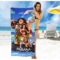 Детское пляжное полотенце Moana - №2496, Цвет разноцветный