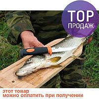 Доска для разделки рыбы с зажимом (бук)/аксессуары для рыбалки