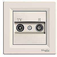 Розетка ТВ - Радио (TV-R)  концевая Schneider Asfora крем