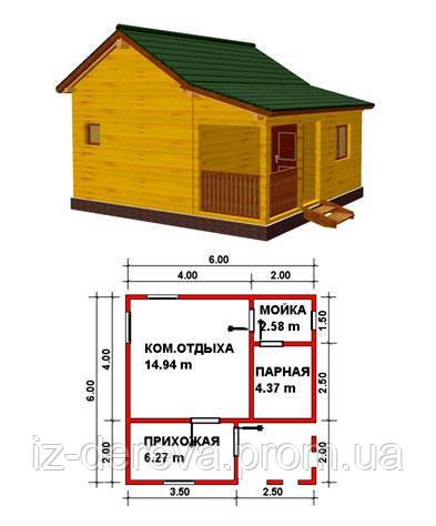 №11Баня из профилированного бруса - Брус-Дом в Закарпатской области