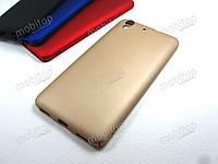 Пластиковый чехол Full cover Huawei Y6 II / Y6 2 (золотистый), фото 1