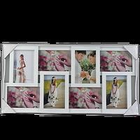Белая фоторамка-коллаж на 8 фотографий