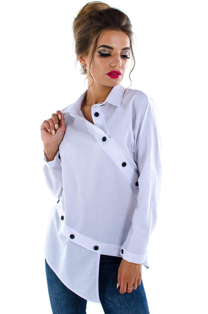Белая рубашка стильная,молодежная