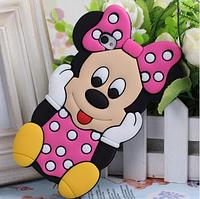 Силиконовый чехол Микки Маус на Iphone 4/4S Pink, фото 1