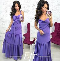 Длинное нарядное платье на брительках