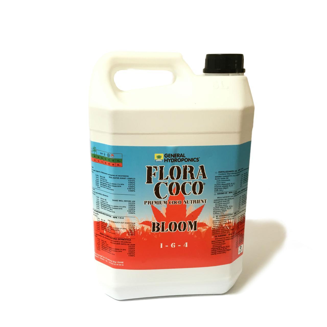 GHE FloraCoco Bloom 5L Оригинал. Минеральное удобрение для гидропоники. Франция