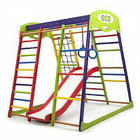Детский спортивный комплекс для дома «ЮнгаPlus 1» (шведская стенка, горка, рукоход, сетка) ТМ SportBaby Разноцветный