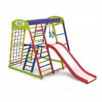 Детский спортивный комплекс для дома «ЮнгаPlus 2» (лестница, столик, горка, рукоход, сетка) ТМ SportBaby Разноцветный