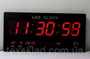 Цифрові настінні годинники Led-3614