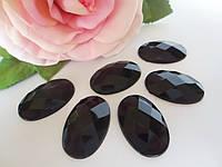 Камень клеевой, 20х30 мм, цвет черный