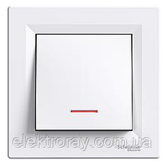 Выключатель с подсветкой Schneider Asfora белый