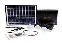 Станция автономного освещения GD-8012 (Радио/Солнечная батарея/3 лампочки)