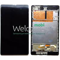 Дисплей (экран) + сенсор (тач скрин) Asus Nexus ME572 black 2 поколение с рамкой
