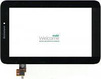 Сенсор (тач скрин) Lenovo A2107, A2207 V5.0 black (оригинал)