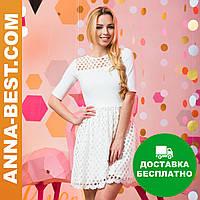 """Белое нарядное платье """"Пиана"""""""