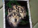 """Схема для вышивки бисером """"Волки"""", фото 2"""