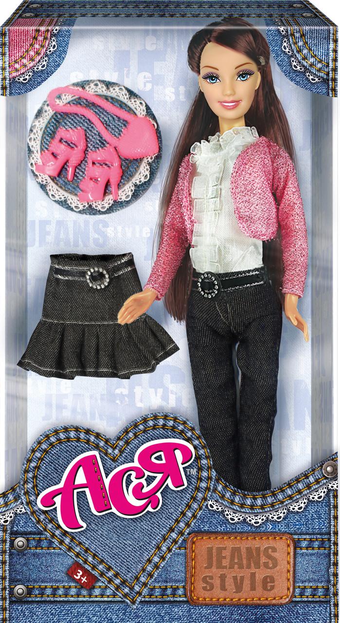Кукла Ася 'Джинсовый стиль'; 28 см; брюнетка; вариант 2