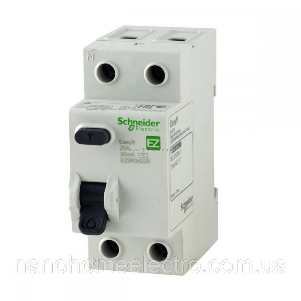 УЗО Диференціальний вимикач EZ9 2P 40А 30 мА Schneider