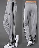 Брюки мужские спортивные серые, лампас синий. Мод. 4024., фото 3